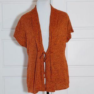 ZOE Burnt orange open cardigan
